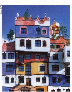 Хундертвассер-хаус в Вене