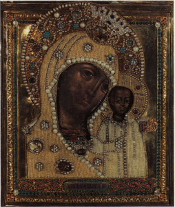 Казанская икона Божией Матери. 17 в. Собор Богоявления в Елохове.