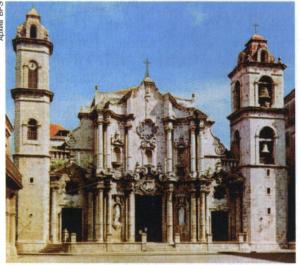 Кафедральный собор в Гаване. 1748-89. Архитекторы П. Медина и А. Фернандес Тревехос.