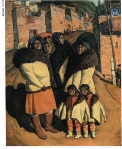 О. Б. Омаров. «Кулинки». 1975. Дагестанский музей изобразительных искусств (Махачкала).